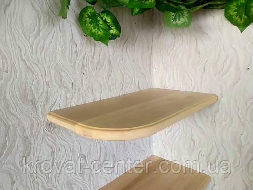 Навесная деревянная полка от производителя (цвет на выбор), фото 2