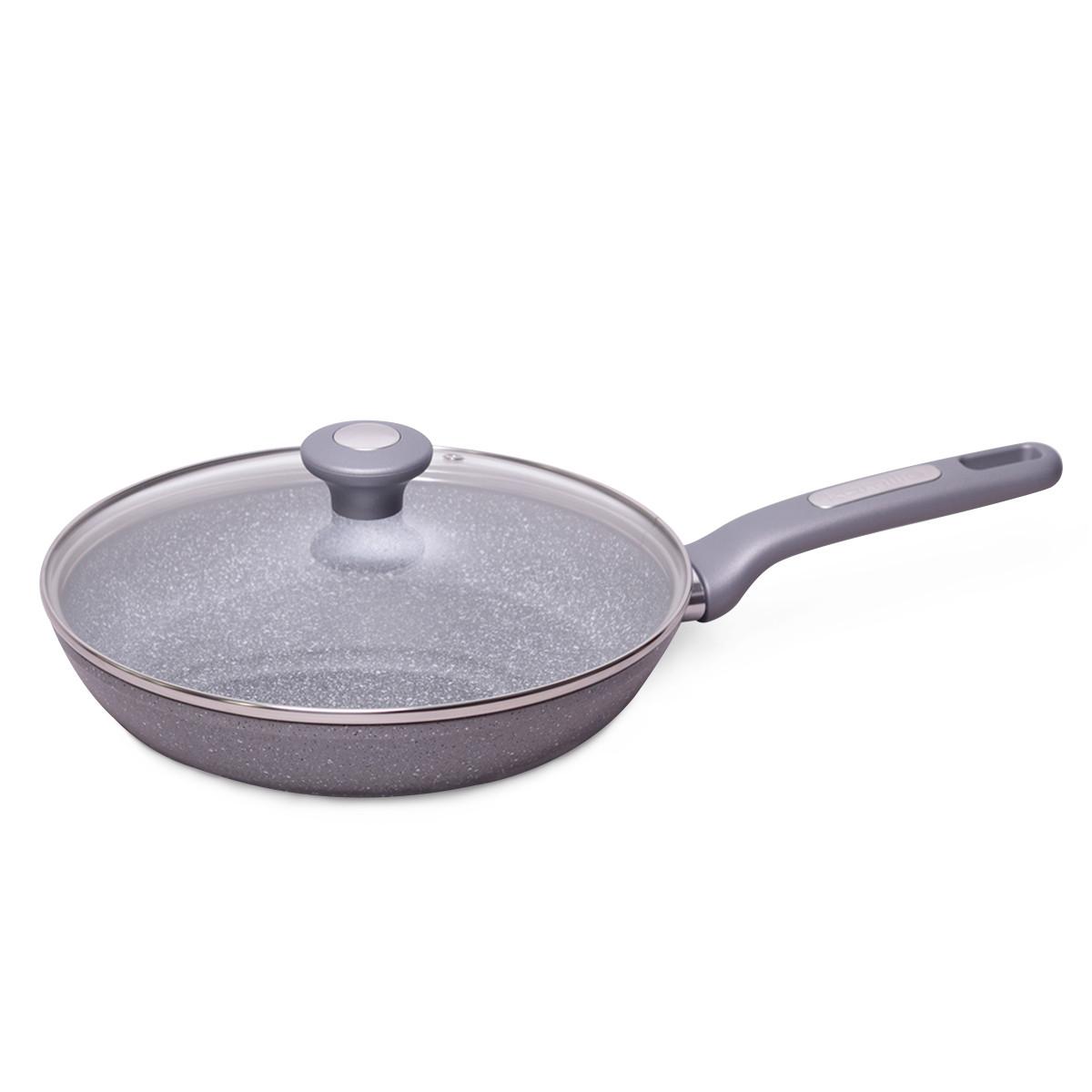 Сковорода для индукции 26 см Kamille с гранитным покрытием и крышкой
