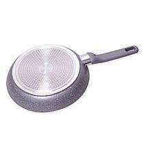 Сковорода для индукции 26 см Kamille с гранитным покрытием и крышкой , фото 3