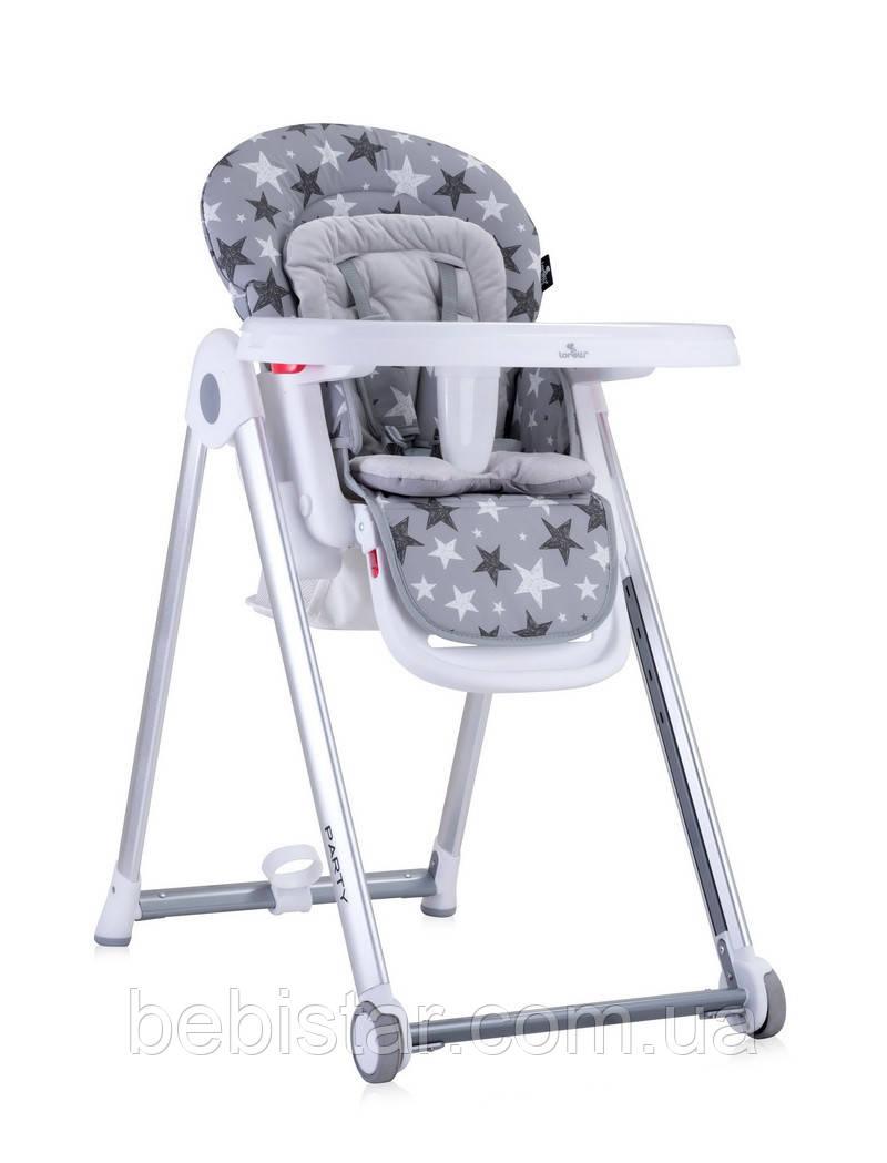 Стул для кормления т.серый Lorelli Party с регулировкой сидения спинки подножки столика с 6 месяцев до 3-х лет