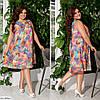 Женское летнее шифоновое платье с принтом, большой размер!!!, фото 2