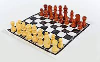 Фигуры шахматные деревянные запасные, высота пешки 2,6 см, короля - 5,5 см, фото 1