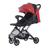 Детская летняя коляска красно-черная Lorelli Fiorano с рождения и до 3-х лет