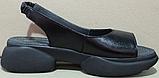 Босоножки летние кожаные на танкетке от производителя модель РИ2102, фото 3