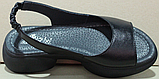 Босоножки летние кожаные на танкетке от производителя модель РИ2102, фото 4