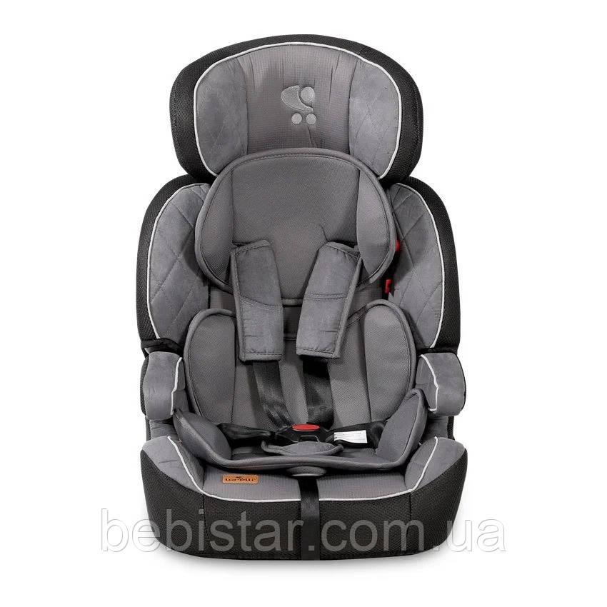 Автокресло темно-серое Lorelli NAVIGATOR 1/2/3 (9-36 kg) для детей от 9 месяцев до 12 лет