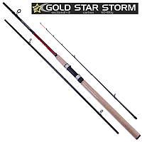 """Спиннинг карповый штекерный фидер """"Gold star storm"""" 3.3м 60-180г 2 + 3к SF23893 (25шт)"""