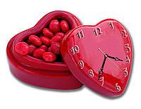Эксклюзивные часы настенные фигурные Erpol Сладкое сердце 30x40 см