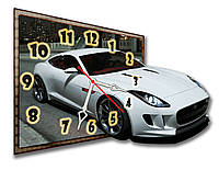 3D часы  декоративные настенные фигурные Erpol Белое авто 30x40 см