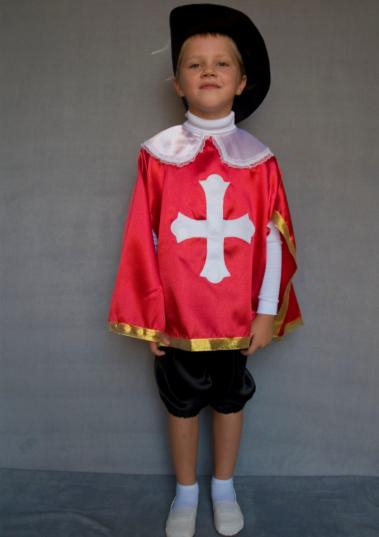 Дитячий карнавальний костюм Мушкетер для хлопчиків від 3 до 6 років