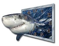 3D часы настенные  декоративные фигурные Erpol Акула 30x40 см