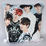 Подушка k-pop 40х40 см із змінною наволочкою BTS, фото 3