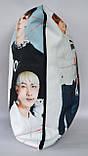 Подушка k-pop 40х40 см із змінною наволочкою BTS, фото 4