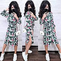Женское летнее платье рубашка  Мишель в разных расцветках