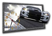 3D часы настенные оригинальные фигурные Erpol Гоночный трек 30x45 см