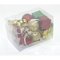 Іграшки №AFW13817/13 Новорічний набір Merry Christmas 3,5см.16 шт кв.пачка