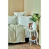 Комплект постельного белья с покрывалом Pike jacquard 200*240 TM Karaca Home Fois bej, фото 3