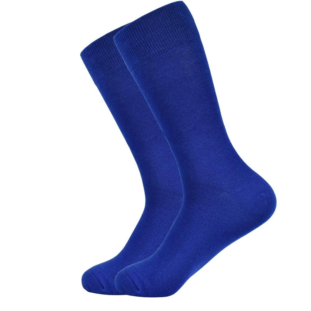 Высокие носки, размер 38-43, яркие, happy socks, без рисунка, мужские/женские - унисекс