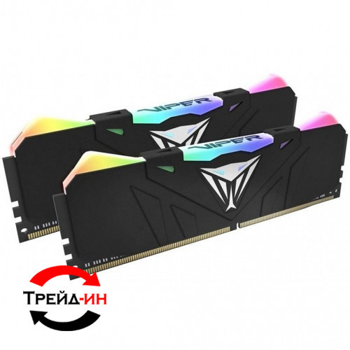 DDR4 16Gb (2x8) Patriot Viper RGB 4133 MHz (PVR416G413C9K), б/у