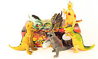 Животные динозавры 12 шт. в коробке тянучка
