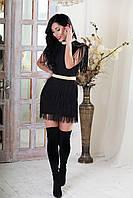 Бандажное платье с бахромой