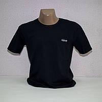 Мужская темно-синяя Батальная стрейчевая футболка Lycra пр-во Турция