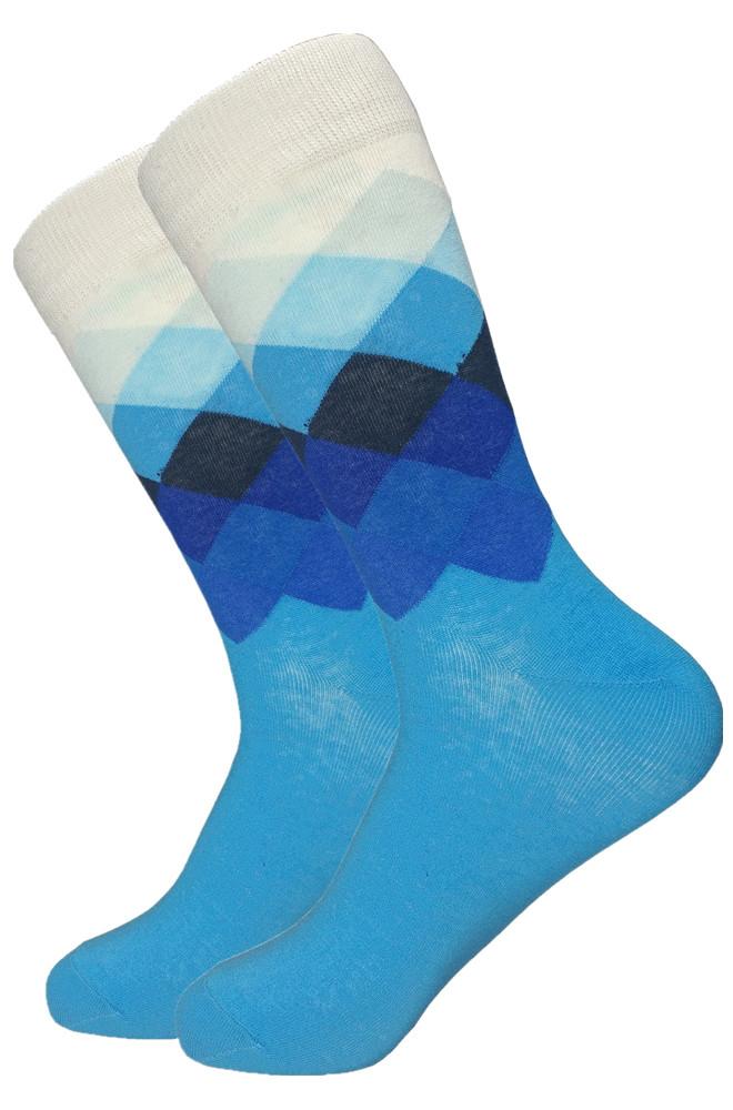 Высокие носки, размер 38-43, яркие, happy socks, с узором, мужские/женские - унисекс