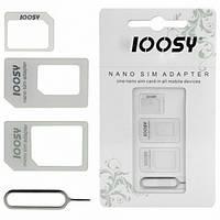 Перехідники для сім карти адаптер Noosy Nano Sim Mini Micro Sim Sim перехідник для сім карти адаптер