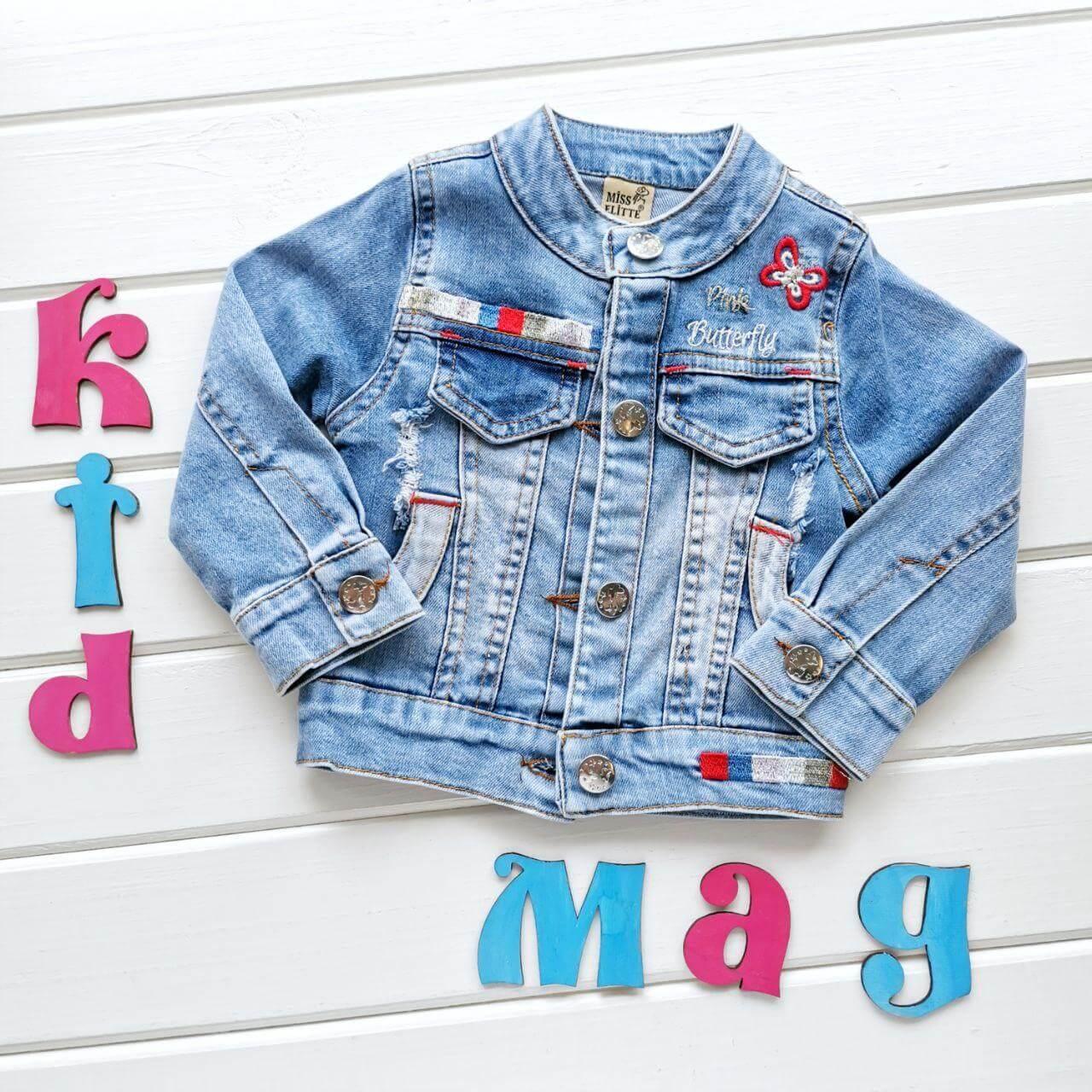 """Детская джинсовая куртка """"Бабочка"""" на 2 года"""