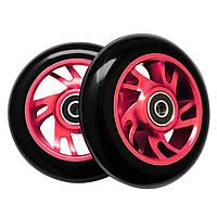 Колеса для трюкового самоката SportVida Alu Abec 9 RS черно-красный PU 100 мм SV-WO0009 SKL41-249509