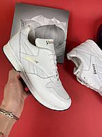 Модные белые женские кожаные кроссовки легкие повседневные Стильные светлые белого цвета лето 2020 Yuves R250