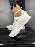 Модные белые женские кожаные кроссовки легкие повседневные Стильные светлые белого цвета лето 2020 Yuves 85