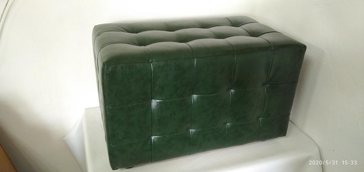 Пуф ПФ-11 Зелёный,пуфик,пуфики,пуф кожзам,пуф экокожа,банкетка,банкетки,пуф куб,пуф фото