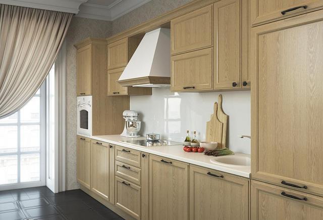 Класична кухня з фасадами світлий дуб