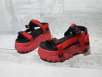 Красные Босоножки на высокой платформе женские