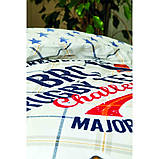 Комплект постельного белья с покрывалом Pike 160*220 TM Karaca Home Challenge mavi, фото 2