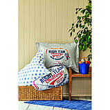 Комплект постельного белья с покрывалом Pike 160*220 TM Karaca Home Challenge mavi, фото 3