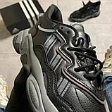 Мужские кроссовки Adidas Ozweego Black Gray, мужские кроссовки адидас озвиго, фото 4
