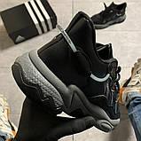 Мужские кроссовки Adidas Ozweego Black Gray, мужские кроссовки адидас озвиго, фото 5