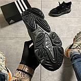 Мужские кроссовки Adidas Ozweego Black Gray, мужские кроссовки адидас озвиго, фото 6