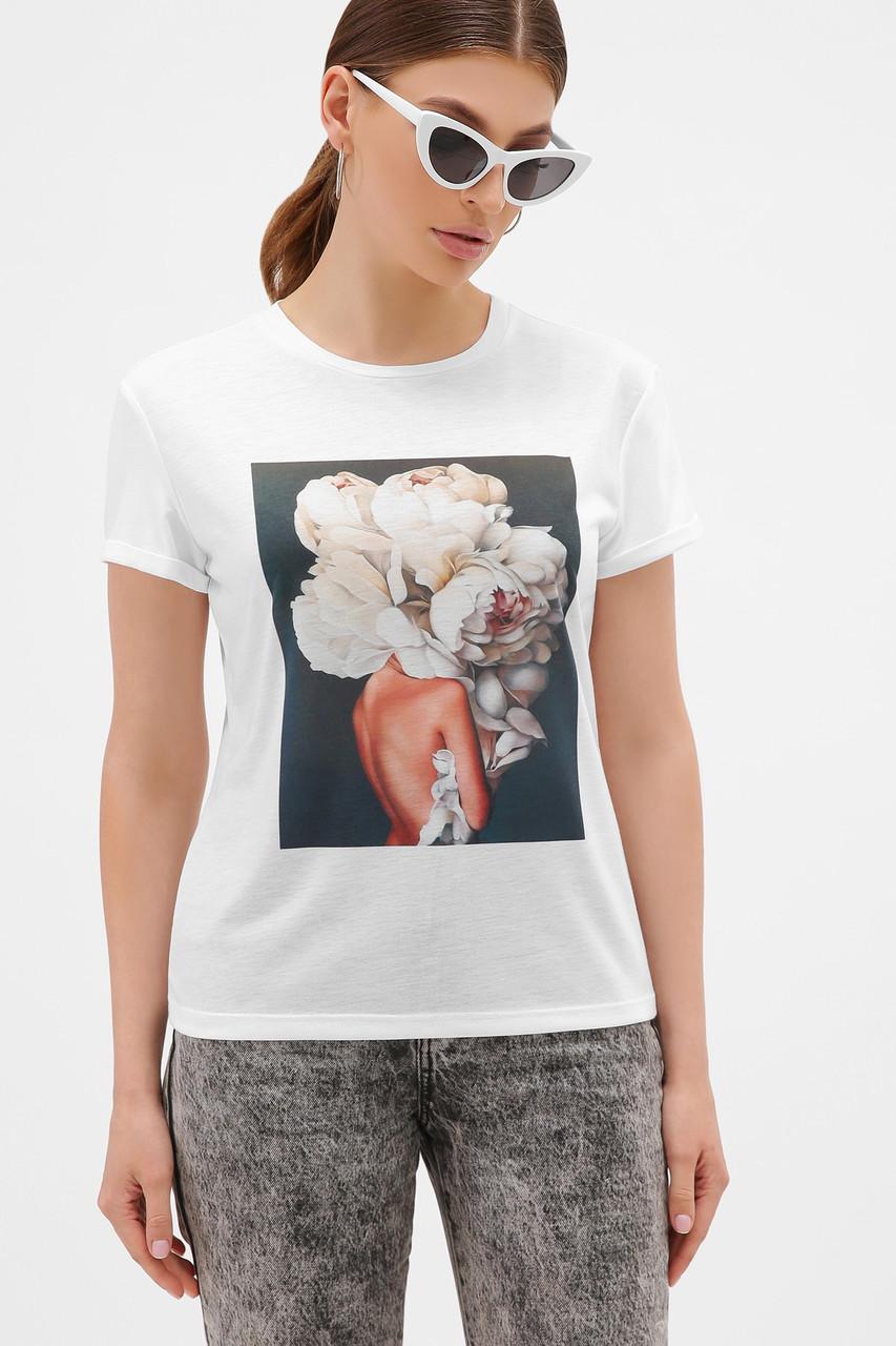 Жіноча футболка з півоніями