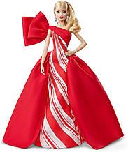 Кукла Барби Праздничная 2019 в красном платье коллекционная Barbie 2019 Holiday Doll Blonde