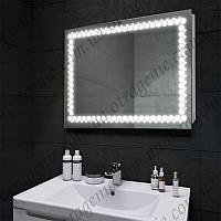 Зеркало с LED подсветкой 10 Вт 900х700 и выключателем | дзеркало на стіну з підсвіткою і кнопкою
