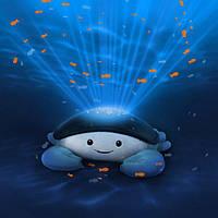 Детский ночник проектор движущегося океана с успокаивающими мелодиями Zazu Cody Краб
