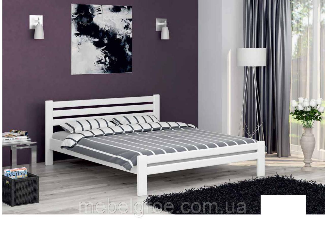 Деревянная двухспальная кровать 160 Престиж ЭКО тм Мекано