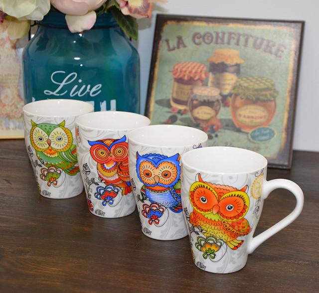 """Чашка """"Magic owl"""" blue (фото)"""