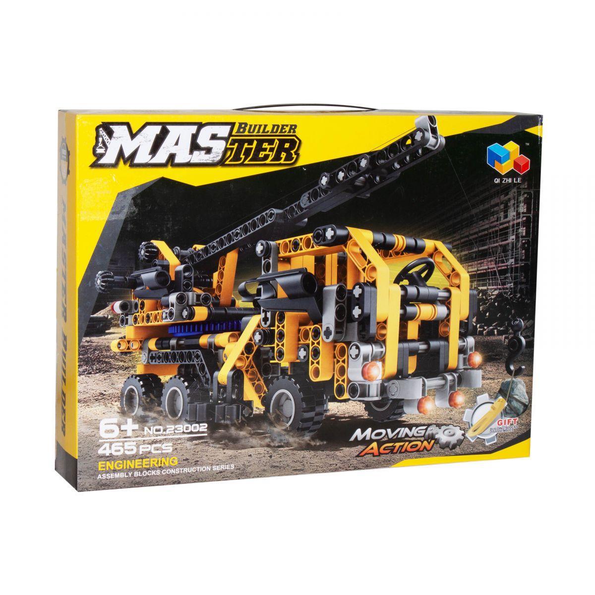 """Конструктор Master Builder Qi Zhi Le 23002 """"Передвижной кран"""",465  дет"""