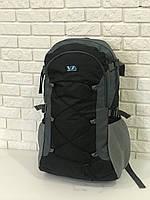 Рюкзак туристический VA T-09-2 55л, черный с серым
