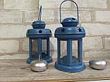 Підсвічник - ліхтар металевий, в-16 см, 120\140 (цена за 1шт. + 20 гр.), фото 2