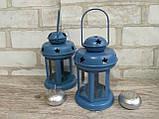 Підсвічник - ліхтар металевий, в-16 см, 120\140 (цена за 1шт. + 20 гр.), фото 3